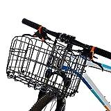 YSXBasket1 Cestino da Bici Cestino for Biciclette Manubrio Ciclismo Trasportini Custodia in Ferro Custodia for Bicicletta Borsa for Bagagli Borsa for Appendere Pieghevole (Color : Black)