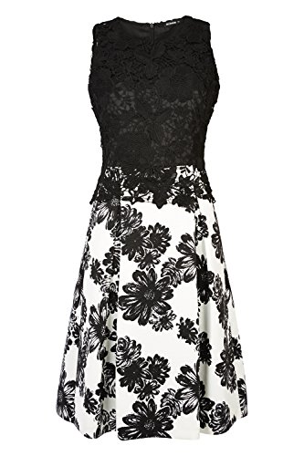 Roman Originals Women's Fit and Flare Lace Dress Black UK Size 10-18