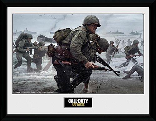Preisvergleich Produktbild 1art1 106737 Call Of Duty - Stronghold, WWII Comraderie Gerahmtes Poster Für Fans Und Sammler 40 x 30 cm