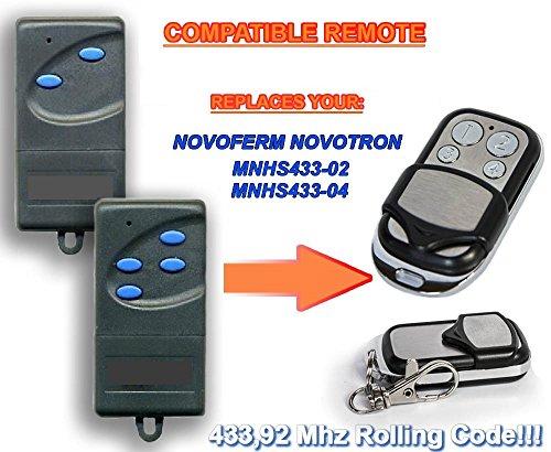 NOVOFERM NOVOTRON mnhs433-02, MNHS433-04Kompatibel Fernbedienung destancia 433,92MHz Rolling Code, 4-canales Ersatz Transmitter zum Besten Preis. (Nova Fernbedienung)