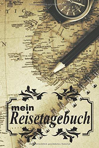 """mein Reisetagebuch: \""""Arbeitsplatz\"""" zum Selberschreiben, Selbstgestalten und Ausfüllen. inkl. Urlaubs-Checkliste, Weltkarte und Reise Tipps gegen Jetlag. Tagebuch, Reisebuch oder als Geschenk."""
