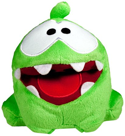 On Nom Smile Poseable Plush - Cut The Rope - 12cm 5""