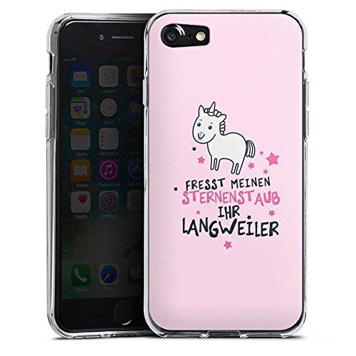 Apple iPhone 6 Hülle Case Handyhülle Einhorn Unicorn Sprüche Silikon Case transparent
