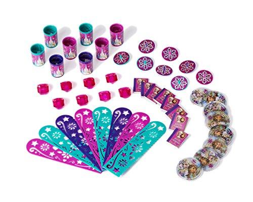 Spiel Party Disney Frozen (Disney Frozen, Eiskönigin - Party Set zum Befüllen von 8 Partytüten (je 8 x Kaleidoskop, Puzzle, Motiv-Schablone, Laserkreisel, Mini-Buch,)