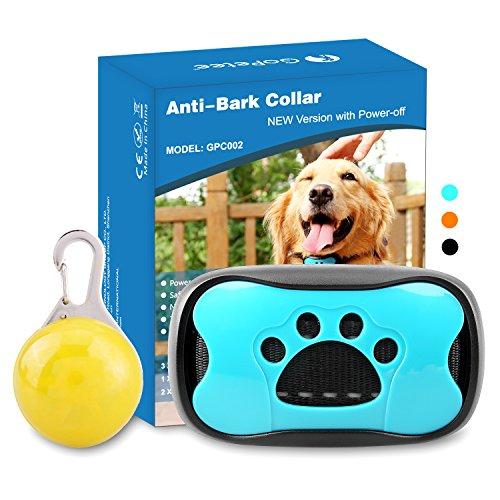 GoPetee Neuste 3in1 Anti-Bell Halsband für Hunde Ohne Schock Spray Vibrationshundehalsband,Hundebellen Stoppen mit Ton & Vibration,7 Verstellbare Stufen,sicher und Harmlos