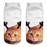 Animal Socks 3D,Beautytop Women Man Ankle Socks Trick Your Cat Animal Paw Socks Animal Paw Crew Socks,3D Socks For Men Women, Women Man Adult Unisex Animal Socks