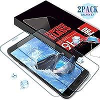 Aonsen Protector de Pantalla Galaxy S7, [2 PACK] Full Coverage Cristal Templado para Samsung Galaxy S7, Protector de Pantalla, Alta Definizione, Anti-rasguños, 9H Dureza - Trasparente