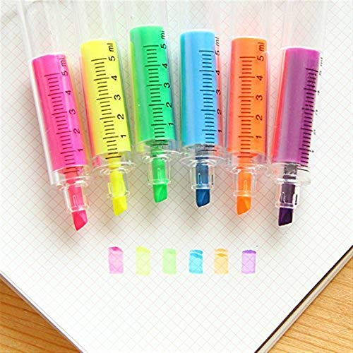 Moderne Büroartikel 6 stücke Nette Spritze Textmarker Stifte Nadel Spritzen Ärzte Krankenschwester Rohr Textmarker Schreibwaren Ideal für den Einsatz im Büro
