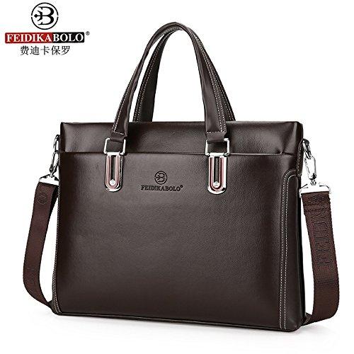 Tragbare Umhängetasche, Männer - Business Case, Computer - Tasche brown