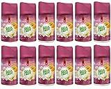 12x Fresh&More Weiße Blume-Melone & Vanille Für Air Wick Freshmatic Max - 250ml