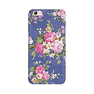 Mobicture Flower Pattern Premium Printed High Quality Polycarbonate Hard Back Case Cover for Oppo R9s Plus With Edge to Edge Printing