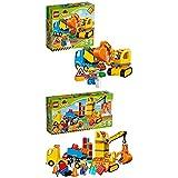 Lego Duplo 10812 - Bagger und Lastwagen, Ideales Geschenk für 2 Jährige + Große Baustelle, Ideales Spielzeug fuer Kleinkinder, große Bausteine