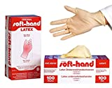 Soft-Hand 00368757 Latex Handschuhe, puderfrei, M (100-er Pack)