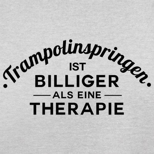 Trampolinspringen ist billiger als eine Therapie - Herren T-Shirt - 13 Farben Hellgrau