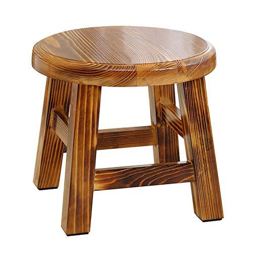 Sgabello da bambino/tavolo da tè sgabello/divano poggiapiedi/panca da scarpe, in legno di pino massiccio, per cabina armadio/sala studio/soggiorno / sala da pranzo, 2 colori