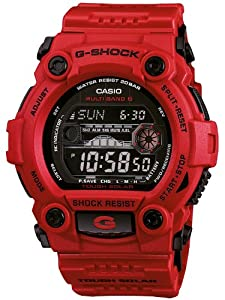 Reloj de caballero CASIO GW7900RD4ER de cuarzo, correa de resina color rojo de Casio
