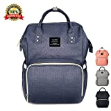 Baby Changing Bag, Tiscen Multi-Function Diaper Bag Backpack, Large Capacity Waterproof Travel Nappy Tote Bags, Navy Blue