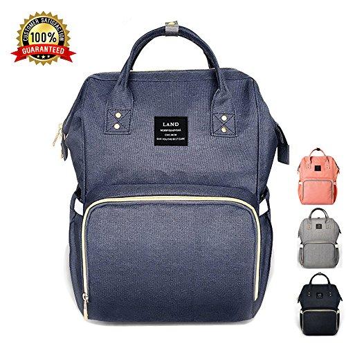 Baby Wickeltasche, Ticent Multifunktions Wasserdichter Reiserucksack Umhängetasche Windelbeutel Windel Taschen für Baby-Pflege, große Kapazität (Dunkelblau)