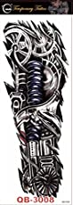 Funwood Games Large Size War Robot Machine Arm Waterproof Temporary Tattoo Sticker Full Arm Flash/Fake for Teens Men & Women