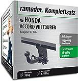 Rameder Komplettsatz, Anhängerkupplung Abnehmbar + 13pol Elektrik für Honda Accord VIII Tourer (114230-07804-1)