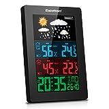 station météo station météo sans fil Excelview avec radio-réveil, température, humidité