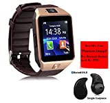 #3: Premium Design Oppo Neo 7 4G Compatible Bluetooth Smart Watch DZ09 Phone With Camera and Sim Card & SD Card Support with free S530 bluetooth Headset (Random Colour)