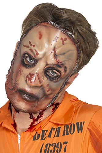 Smiffys Herren Zombie Fleisch Maske, One Size, Beige, 45592 (Fleisch Fancy Dress Kostüm)