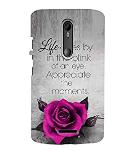 EPICCASE Good Thiking Quote Mobile Back Case Cover For Moto X 3rd Gen (Designer Case)