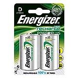 Batterie D ricaricabili Energizer Recharge Power Plus, confezione da 2