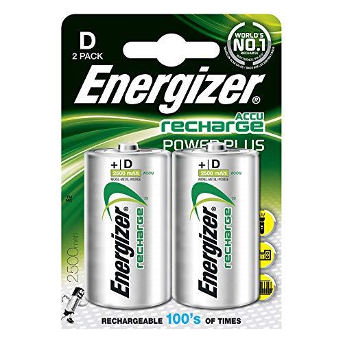 Energizer Akkus D, Recharge Power Plus, 2 Stück