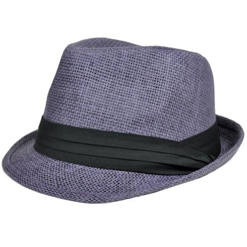90050891 Search results. b018roxj6c. Woven Straw Fedora Stetson Gangster Mesh Hat  FD-107 Small Medium Purple Trilby by Milani