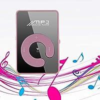 Ncient MP3 Deporte con Clip USB 2.0,Micro SD, WMA Inserte TF Botón de Espejo C MP3 Reproductor de Musica Negro para Ocio Deportivo Relajarse