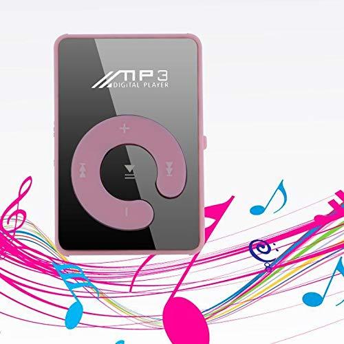 Pagacat MP3 Media Player Mini Sport 4 Stunden Dauernd Ohne SD-Karte Tragbar Musik Player Diktiergerät Digital-LCD-Bildschirm Video-Player Rosa