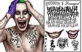 VERY100 Suicide Squad der Joker temporärer Körper Tattoo Kit Kostüm lizenziert Tattoo (3)
