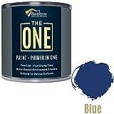 Une Peinture, un manteau, Multi Surface Peinture pour bois, métal, plastique, intérieur, extérieur, Bleu brillant, 250ml