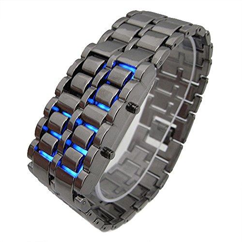 Orologio LED (Blu) Cobra,unisex,senza quadrante -Nero - Quadrante Blu Unisex