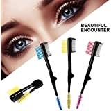 Digital Shoppy 1PCs Fashion Double Side Eyebrow Brush Eyelash Comb Mascara Separator Cosmetics Eyebrow Makeup Brushes Eyes Beauty Make Up Tools 5.0