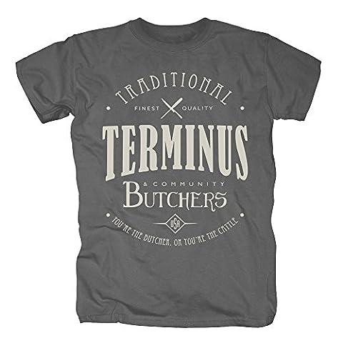 TSP Terminus Butchers T-Shirt Herren XXL Dunkelgrau