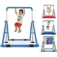 Barra de gimnasia for niños de interior, barras de equilibrio Kip extensibles atléticas for gimnasia, gimnasio plegable for juegos de entrenamiento for jóvenes, tiro individual elevado for niños