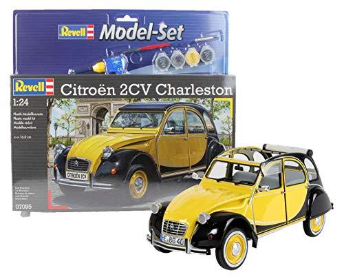 Revell Modellbausatz Auto 1:24 - Citroen 2CV Ente Charleston im Maßstab 1:24, Level 4, originalgetreue Nachbildung mit vielen Details, , Model Set mit Basiszubehör, 67095 - Citroen Modell