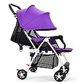 baby stroller Kinderwagen Ultraleicht Kann Liegen Gefaltet Kinderwagen Vier Kinder Regenschirm Kinderwagen Kinderwagen,Purple