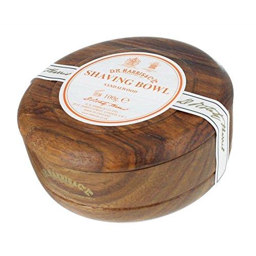 DR Harris & Co Mahogany Wooden Shaving Bowl with Sandalwood Shaving Soap