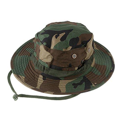 Outdoor Sports Sun Caps, Camouflage Hunter hat, Sniper Combat Caps Mützen, Rundrand Hut für Angeln Wandern Camping Wandern Kopfbekleidung Unisex Frauen Männer Mädchen, unisex damen Herren, Dschungel-Camouflage (Eimer Hut Camouflage)