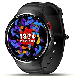 Lemfo Les1 - 3g Smartwatch Phone Android 5.1 Quad Core 1.0ghz 1gb16gb, Heart Rate Monitor Wifi Pedometer Bluetooth Gps 2mp Camera - Black