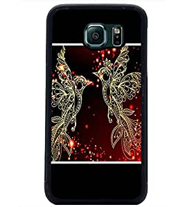 PrintDhaba Beautiful Birds D-1345 Back Case Cover for SAMSUNG GALAXY S6 (Multi-Coloured)