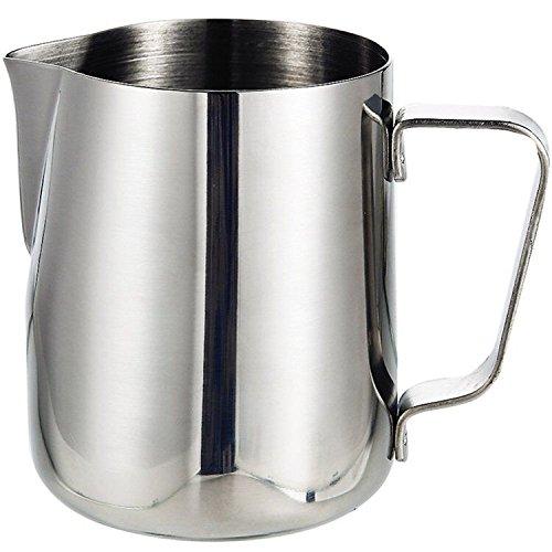 Tosnail 350ml / 12 fl.oz. Milchkännchen Edelstahl-Milch-Schalen-Aufschäumen von Milch Pitcher Milchkrug -
