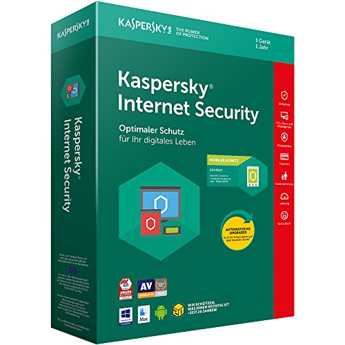 Kaspersky Internet Security 2018 Standard | 1 Gerät | 1 Jahr | Windows/Mac/Android + Mobiler Schutz | Download