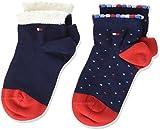 Tommy Hilfiger Baby-Jungen Socken TH Girl Dots 2P, 2er Pack, Blau (Midnight Blue 563), 19-22