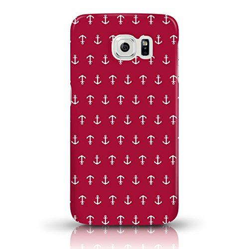"""JUNIWORDS Handyhüllen Slim Case für Samsung Galaxy S6 - Motiv wählbar - """"Majestätischer Hirsch"""" - Handyhülle, Handycase, Handyschale, Schutzhülle für Ihr Smartphone Anker Design 1 Dunkelrot"""