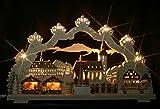 3D Schwibbogen Annaberger Weihnachtsmarkt mit elektrischer Pyramide - Handarbeit Erzgebirge